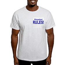 Stepdad Rules! Ash Grey T-Shirt