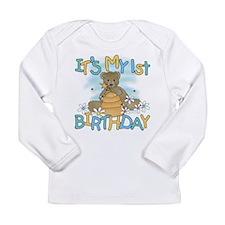 Teddy Bear 1st Birthday Long Sleeve Infant T-Shirt