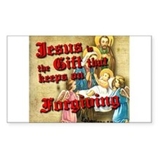 Jesus Gift Keeps Forgiving Decal
