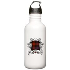 Brown Tartan Shield Sports Water Bottle