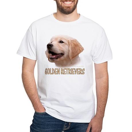 """GOLDEN RETRIEVER HEAD PUPPY """"GRs"""" White T-Shirt"""