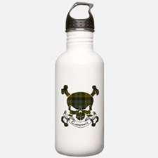 Campbell Tartan Skull Water Bottle