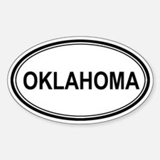 Oklahoma Euro Oval Decal