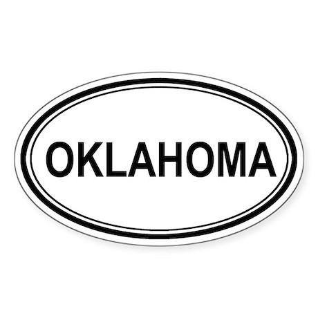 Oklahoma Euro Oval Sticker