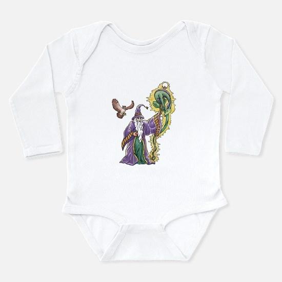 Purple Wizard Long Sleeve Infant Bodysuit