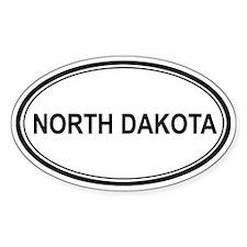 North Dakota Euro Oval Decal