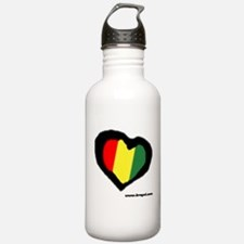 Rasta Heart Water Bottle