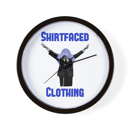 """""""Shirtfaced Logo"""" Wall Clock"""