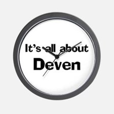 It's all about Deven Wall Clock