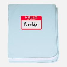 Hello Brooklyn baby blanket