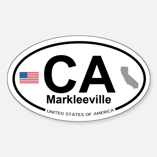 Markleeville Sticker (Oval)