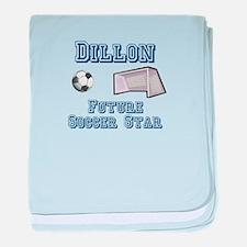 Dillon - Future Soccer Star baby blanket