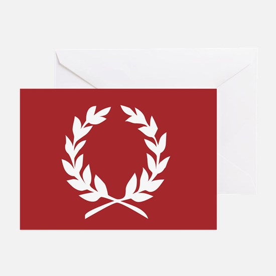 laurel wreath (red): Greeting Cards (Pk of 20)