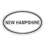 New Hampshire Euro Oval Sticker