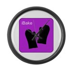 iBake Purple Large Wall Clock