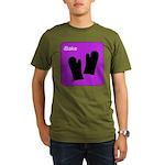 iBake Purple Organic Men's T-Shirt (dark)