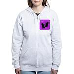 iBake Purple Women's Zip Hoodie