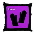 iBake Purple Throw Pillow