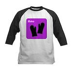 iBake Purple Kids Baseball Jersey
