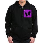 iBake Purple Zip Hoodie (dark)