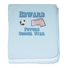 Edward - Future Soccer Star baby blanket