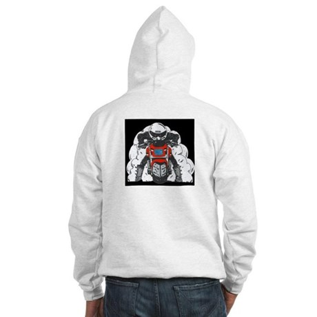 ZRX Burn Out Red Hooded Sweatshirt