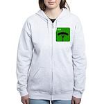 iGrill Green Women's Zip Hoodie