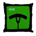 iGrill Green Throw Pillow