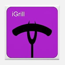 iGrill Purple Tile Coaster