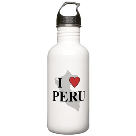 I Love Peru Stainless Water Bottle 1.0L