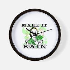 Make It Rain Wall Clock