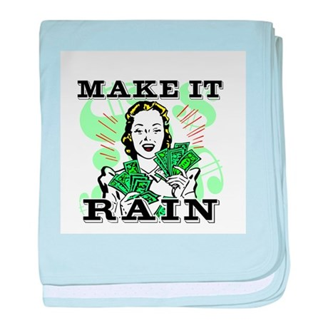 Make It Rain baby blanket