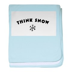 Think Snow baby blanket