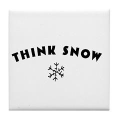 Think Snow Tile Coaster