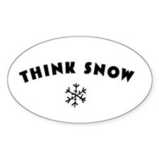 Think Snow Decal