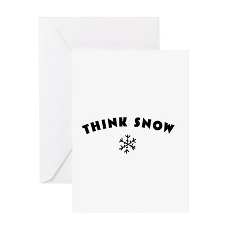 Think Snow Greeting Card