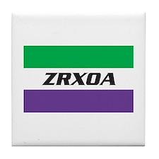 ZRXOA Logo Tile Coaster