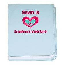 Gavin is Grandma's Valentine baby blanket