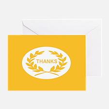 Laurel Wreath: (yellow) Greeting Card