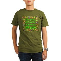 Santa Letter Gun Organic Men's T-Shirt (dark)
