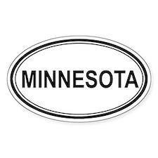 Minnesota Euro Oval Decal