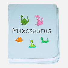 Maxosaurus baby blanket