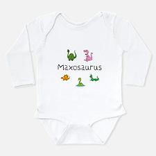 Maxosaurus Long Sleeve Infant Bodysuit