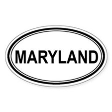 Maryland Euro Oval Decal