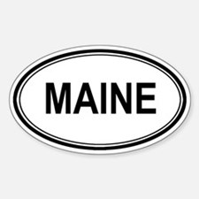 Maine Euro Oval Decal