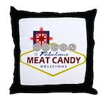 Vegas Bacon Throw Pillow