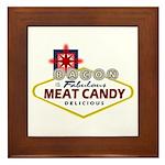 Vegas Bacon Framed Tile