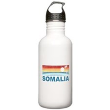 Retro Palm Tree Somalia Water Bottle