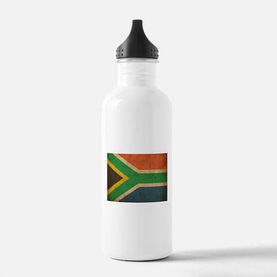 Vintage South Africa Flag Water Bottle