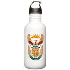 South Africa Coat Of Arms Water Bottle